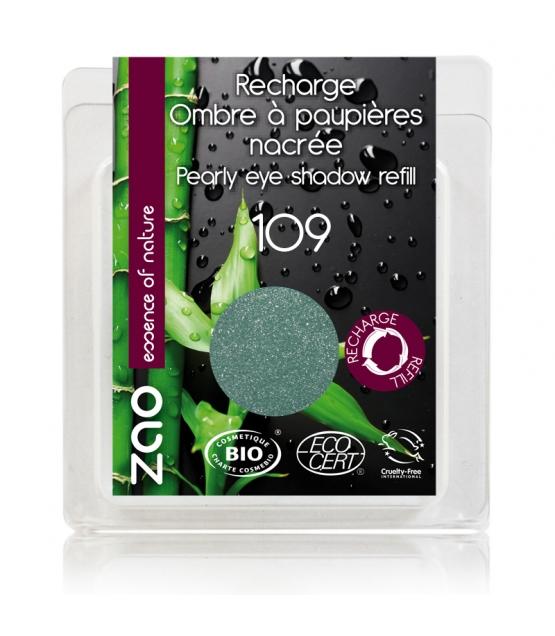 Recharge Fard à paupières nacré BIO N°109 Turquoise – 3g – Zao Make-up