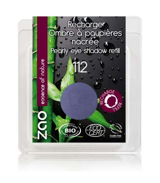 Nachfüller BIO-Lidschatten perlmutt N°112 Azurblau - 3g - Zao Make-up