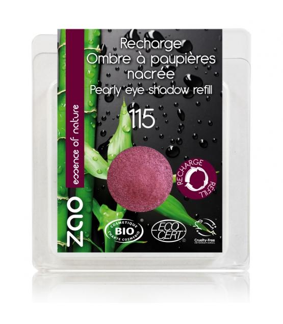 Recharge Fard à paupières nacré BIO N°115 Rubis - 3g - Zao Make-up