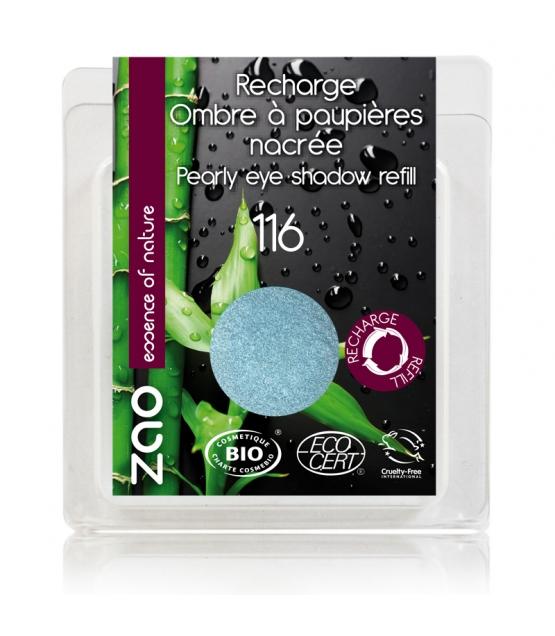 Nachfüller BIO-Lidschatten perlmutt N°116 Entenblau - 3g - Zao Make-up