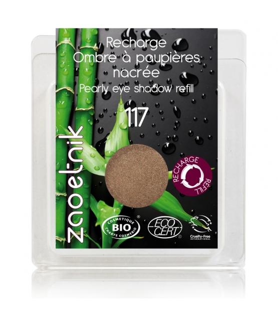 Nachfüller BIO-Lidschatten perlmutt N°117 Bronze rosé - 3g - Zao Make-up