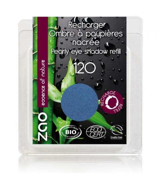 Recharge Fard à paupières nacré BIO N°120 Bleu roy - 3g - Zao Make-up