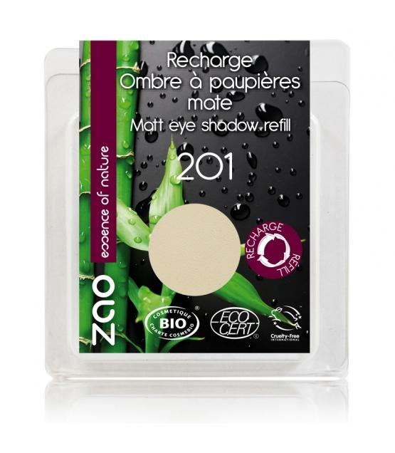 Recharge Fard à paupières mat BIO N°201 Ivoire - 3g - Zao Make-up