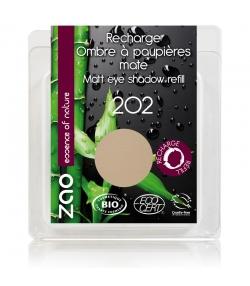 Nachfüller BIO-Lidschatten matt N°202 Braun Beige – 3g – Zao Make-up
