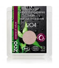 Recharge Fard à paupières mat BIO N°204 Vieux rose doré – 3g – Zao Make-up