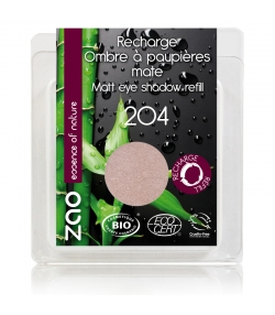 Nachfüller BIO-Lidschatten matt N°204 Gold Altrosa – 3g – Zao Make-up