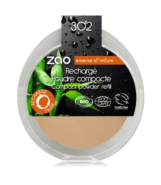 Nachfüller BIO-Kompaktpuder N°302 Orange Beige - 9g - Zao Make-up
