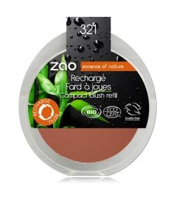 Recharge Fard à joues compact BIO N°321 Brun orange – 9g – Zao Make-up