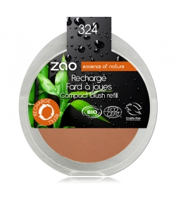 Recharge Fard à joues compact BIO N°324 Rouge brique - 9g - Zao Make-up