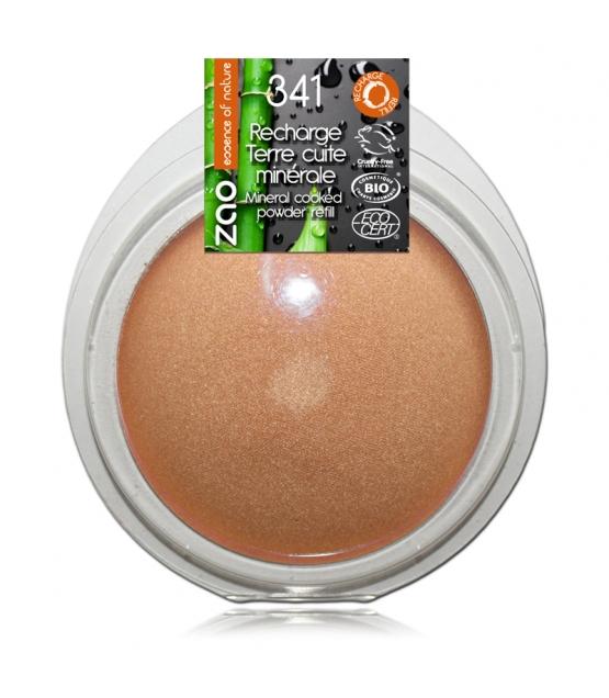 Recharge Terre cuite minérale BIO N°341 Cuivre doré - 15g - Zao Make-up
