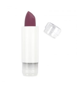 Recharge Rouge à lèvres soft touch mat BIO N°437 Aubergine - 3,5g - Zao Make-up