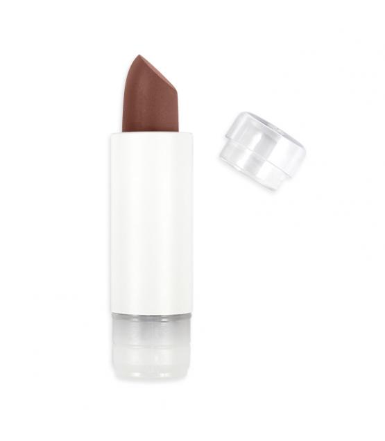 Nachfüller BIO-Lippenstift matt N°466 Schokolade - 3,5g - Zao Make-up