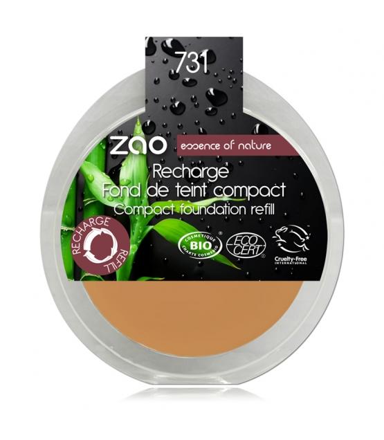 Recharge Fond de teint compact BIO N°731 Abricot - 7,5g - Zao Make-up