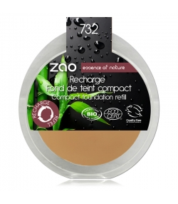 Recharge Fond de teint compact BIO N°732 Pétale de rose – 7,5g – Zao Make-up