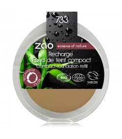 Recharge Fond de teint compact BIO N°733 Neutre – 7,5g – Zao Make-up