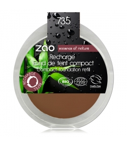Recharge Fond de teint compact BIO N°735 Chocolat – 7,5g – Zao Make-up