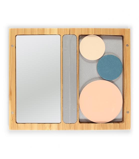 Boîtier magnétique rechargeable en bambou - Zao Make-up