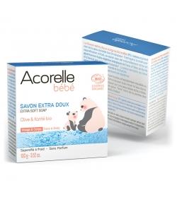 Savon extra doux visage & corps bébé BIO olive & karité - 100g - Acorelle