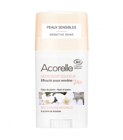 Déodorant stick douceur 24h BIO coeur de jasmin - 45g - Acorelle