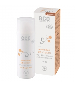 CC crème teinte foncée BIO IP 30 OPC, Q10 & acide hyaluronique - 50ml - Eco Cosmetics