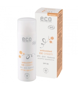 CC crème teinte claire BIO IP 50 OPC, Q10 & acide hyaluronique - 50ml - Eco Cosmetics