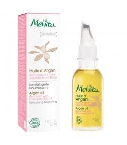 Huile d'argan parfumée à l'huile essentielle de rose BIO - 50ml - Melvita