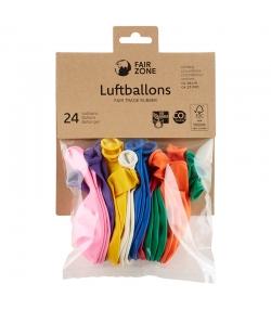 Ballons baudruche en caoutchouc naturel Mix de couleurs - 24 pièces - Fair Zone