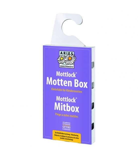 Klebefalle gegen Kleidermotten zur Befallsüberwachung - Mottlock Mottenbox - 1 Klebefalle - Aries