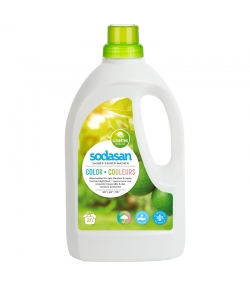 Lessive liquide couleurs écologique citron vert - 20 lavages - 1,5l - Sodasan