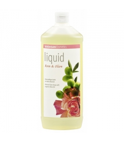 BIO-Flüssigseife Rose & Olive - 1l - Sodasan