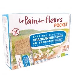 Tartines craquantes au sarrasin sans sel & sans sucre BIO - 220g - Le pain des fleurs Pocket