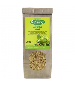Graines à germer d'alfalfa BIO - 200g - Rapunzel bioSnacky