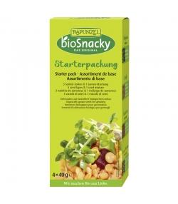 Assortiment de base de graines à germer BIO - 4x40g - Rapunzel bioSnacky