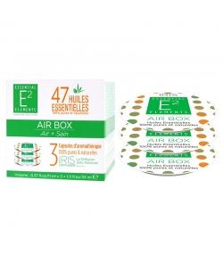 Capsules d'aromathérapie Air Box aux 47 huiles essentielles - 3 pièces - E2 Essential Elements