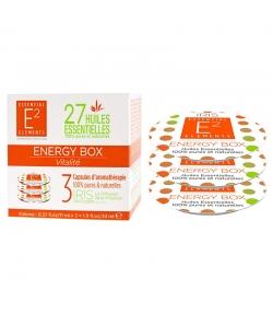 Kapseln Aromatherapie Energy Box mit 27 ätherischen Ölen - 3 Stück - E2 Essential Elements