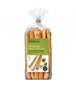BIO-Dinkelstängeli mit Olivenöl & Kümmel - 125g - Biofarm
