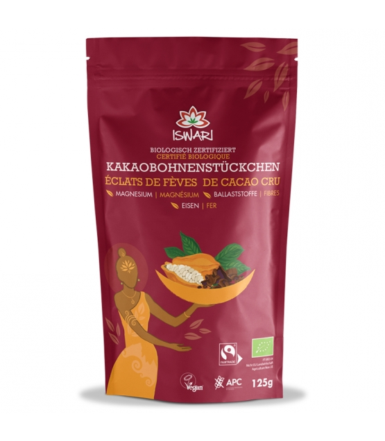 Fèves de cacao cru BIO - 125g - Iswari