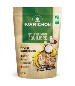 BIO-Müesli geröstete Cerealien & exotische Früchte - 350g - Favrichon