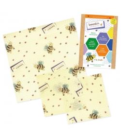 Tissus à la cire d'abeille Set Kids (Small & Medium) - 3 pièces - Beeskin