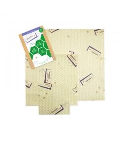 Tissus à la cire d'abeille Set Multi (Small, Medium & Large) - 3 pièces - Beeskin
