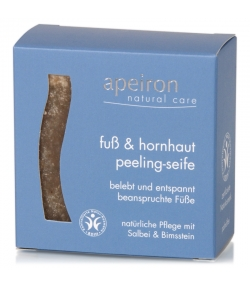 Natürliche Fuss & Hornhaut Peeling Seife Salbei & Bimstein - 100g - Apeiron