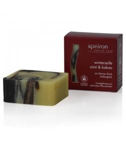 Savon d'hiver naturel cannelle & cacao - 100g - Apeiron