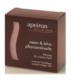 Natürliche Pflanzenöl-Seife Neem & Lehm - 100g - Apeiron