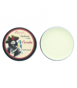 Déodorant crème naturel senteur boisée Caraïba argile blanche & coco - 30g - Bionessens