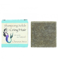 Shampooing solide naturel Crinyhair argile blanche, beurre de karité & cacao - 70g - Bionessens