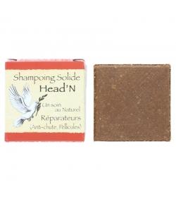 Natürliches festes Shampoo Head'N rote Tonerde, Kokos & Macadamia - 70g - Bionessens