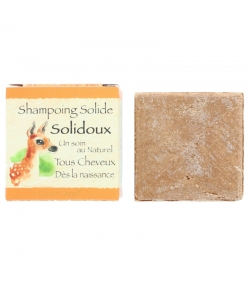 Natürliches festes Shampoo Solidoux rosa Tonerde, Calendula & Sheabutter - 70g - Bionessens