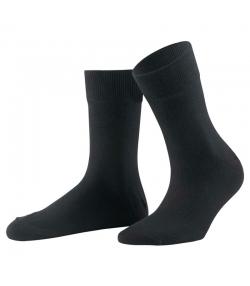 Chaussette confort en coton BIO noir - taille 41-42 - 1 paire - Memo