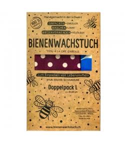 Tissu à la cire d'abeille Large - 2 pièces - RapNika