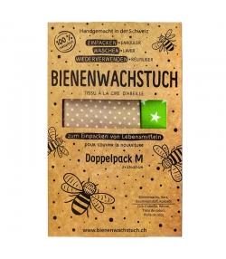 Tissu à la cire d'abeille Medium - 2 pièces - RapNika